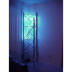 Neon truss corner accent light