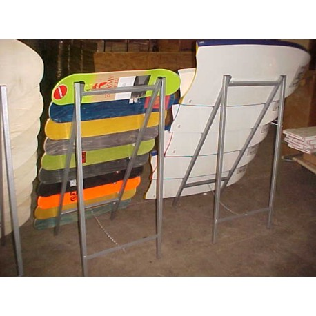 Foldable skate board and boogie board racks
