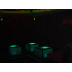 Illuminated frosted glass table nightclub furniture