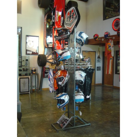 2 sided floor helmet display