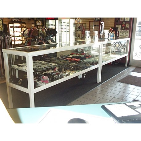 Two 8 foot product display cases