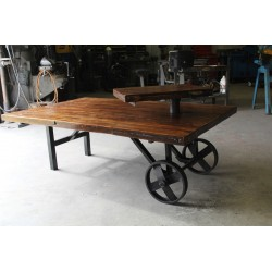 Distress - 150 year old maple top custom coffee table