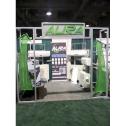 Trade show display for AURA systems