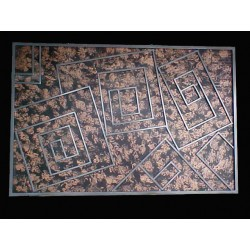 Mazes all steel custom finish wall art