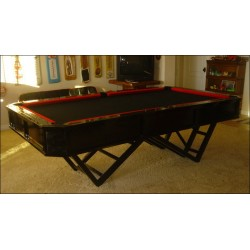 Custom pool table designed & created by Louie Tozser Design