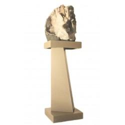 Amethyst flower brazil in composite pedestal