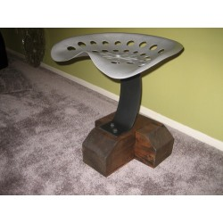 Custom steel stool