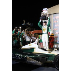 Ed Carpenter accepting LTD design award at Indy car