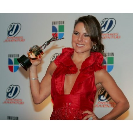Kate Del Castillo accepting PJ awards -Designed & custom made by LTD