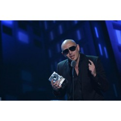 Pittbull accepting Premios Juventud award created by LTD