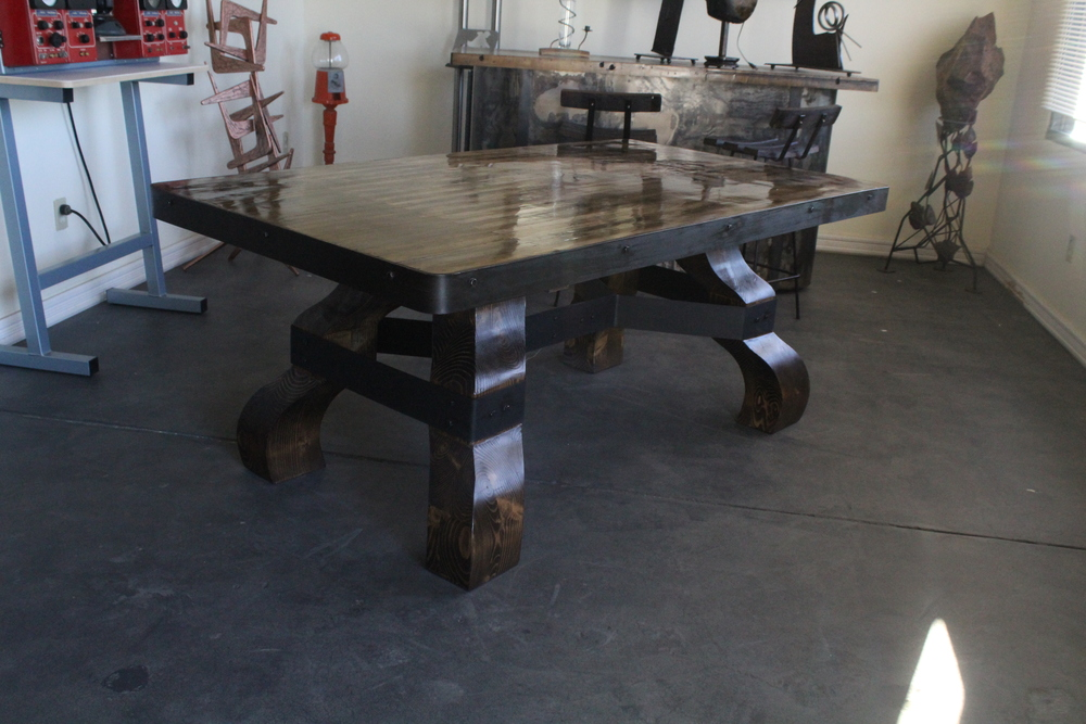 Complete custom made wooden table
